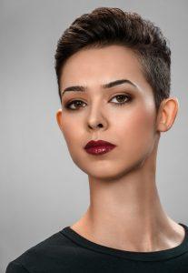 headshot of actress for portfolio comp card