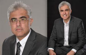 photo retouching of a business executive before & after