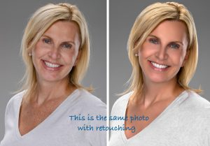 Photoshop retouching before and after
