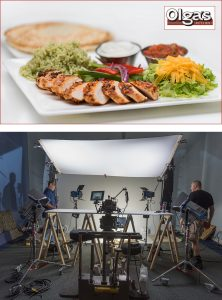 on location food photography for restaurants