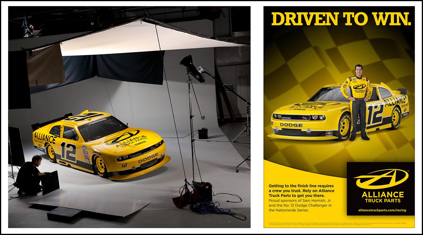 studio car photography for NASCAR