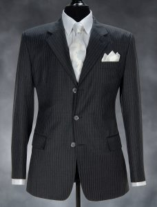 fashion picture men's suits in a photo studio