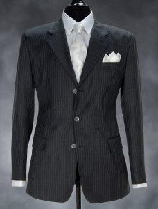 fashion picture men's suits in a photo studio