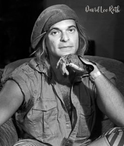 David Lee Roth backstage