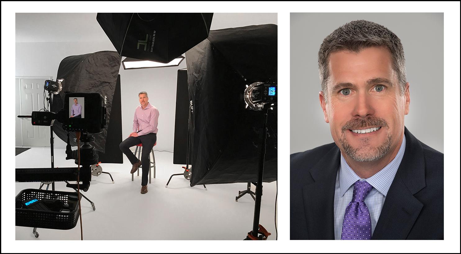 business headshots in a photo studio