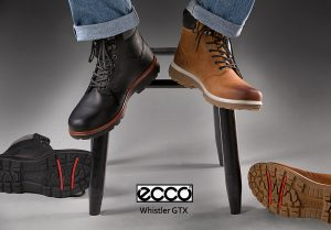 product photography of ecco boots
