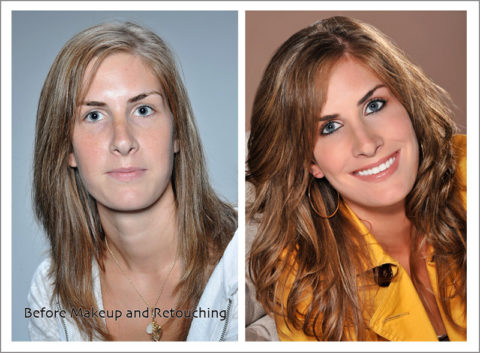 photos of a beauty makeover