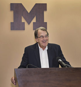U of M coach Lloyd Carr