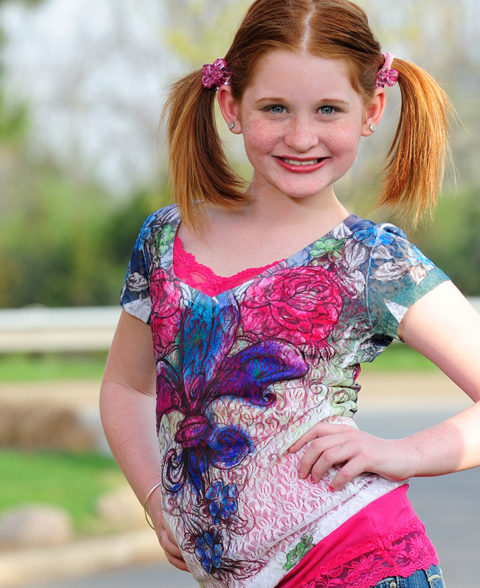 portfolio photo for a child actress and model