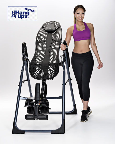fitness photo with exercise equipment and model