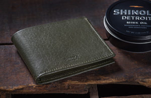 leather goods photography Shinola wallet