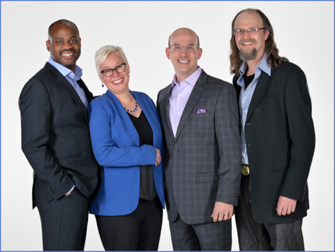 group photo of business team executives