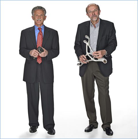 photo of two businessmen in my photo studio in michigan