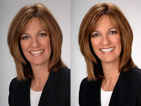 photoshop retouching of real estate headshots