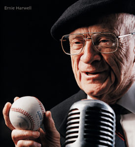 book cover photo of Ernie Harwell baseball announcer