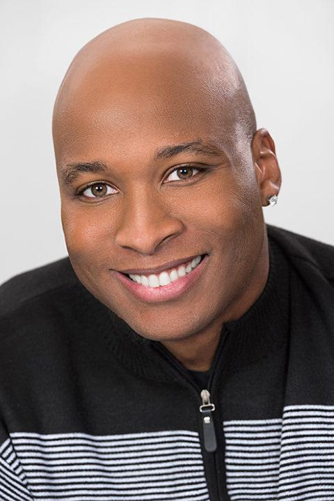 male headshot african american model