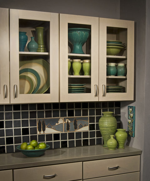 interior design photography of cabinets