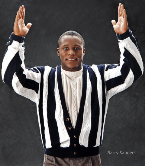 barry sanders nfl hall of fame football star