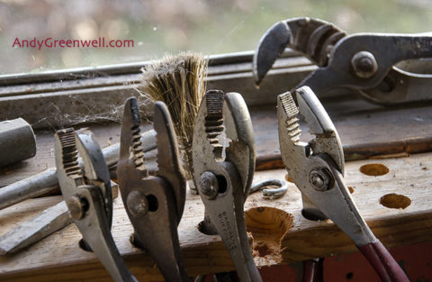 photo of pliers for calendar photography
