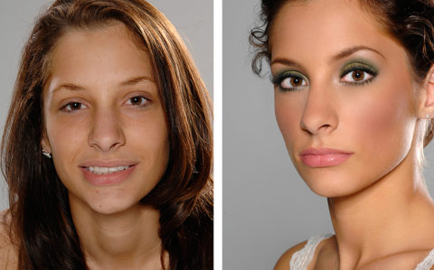 before and after photos of models