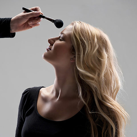 photo of makeup artist for a headshot photo shoot