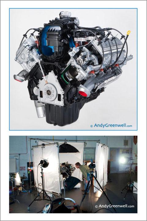 photo of a car engine