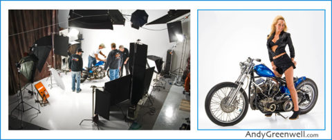motorcycle photography in our photo studio