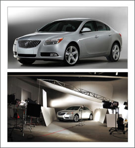 car photography in a photo studio