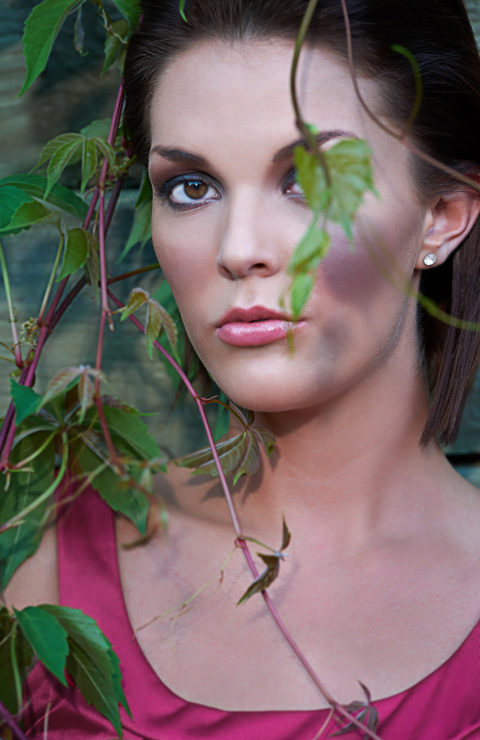 unique headshot of a fashion model