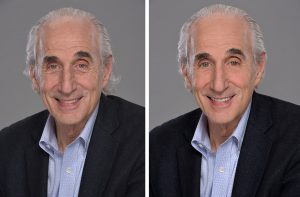 photo retouching before & after salesman
