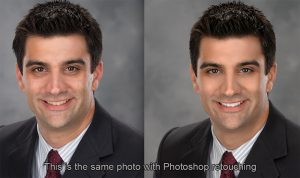 photo retouching for business executive portraits