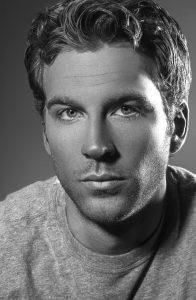 black and white actor model headshot