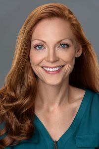 headshot of an actress model for her portfolio
