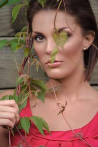 actress model headshot outdoors