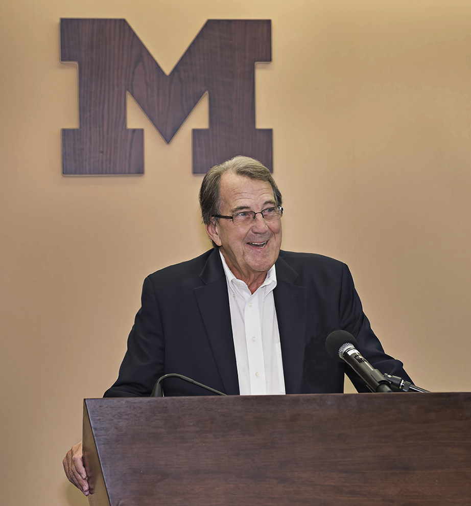 LLoyd Carr Michigan football coach