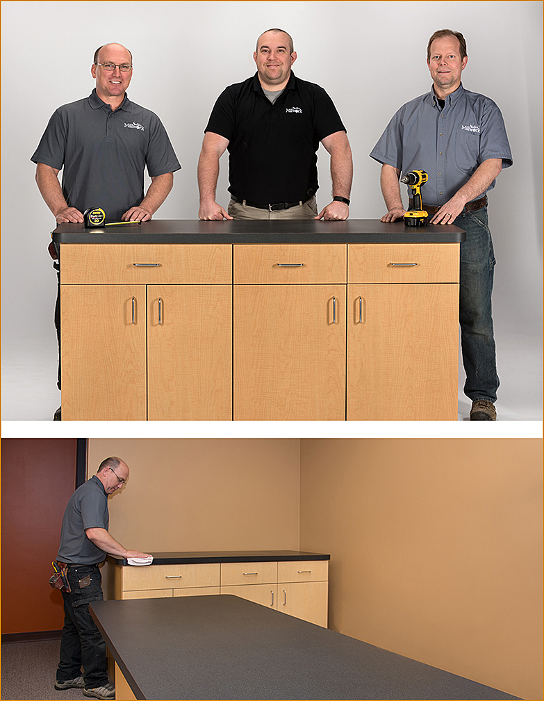 cabinet makers installing cabinets photography