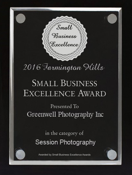 small business award farmington hills photography 2016