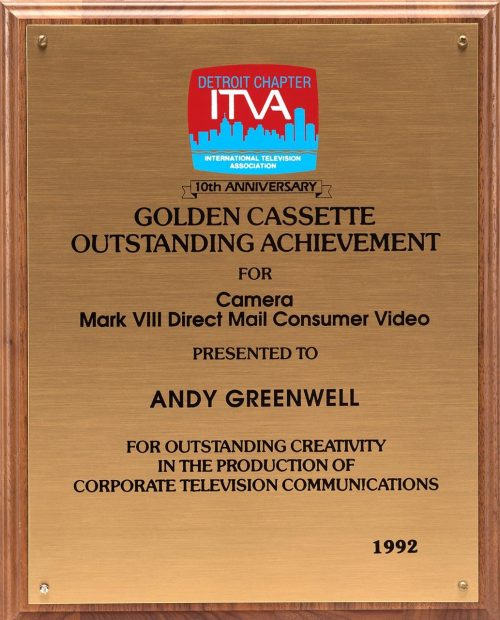 Andy's Golden Cassette Award For Camera