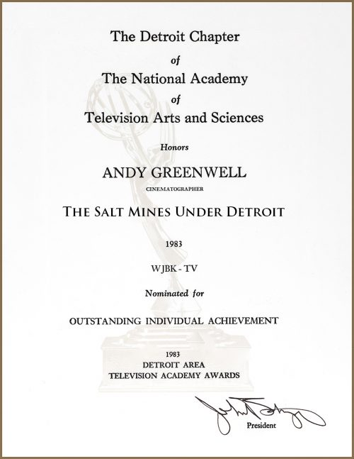 Emmy Nomination For The Salt Mines Under Detroit
