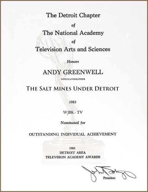 Emmy Nomination For The Salt Mines Under Detroit