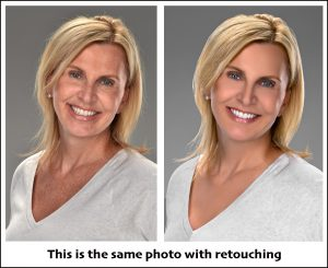 business headshot with retouching