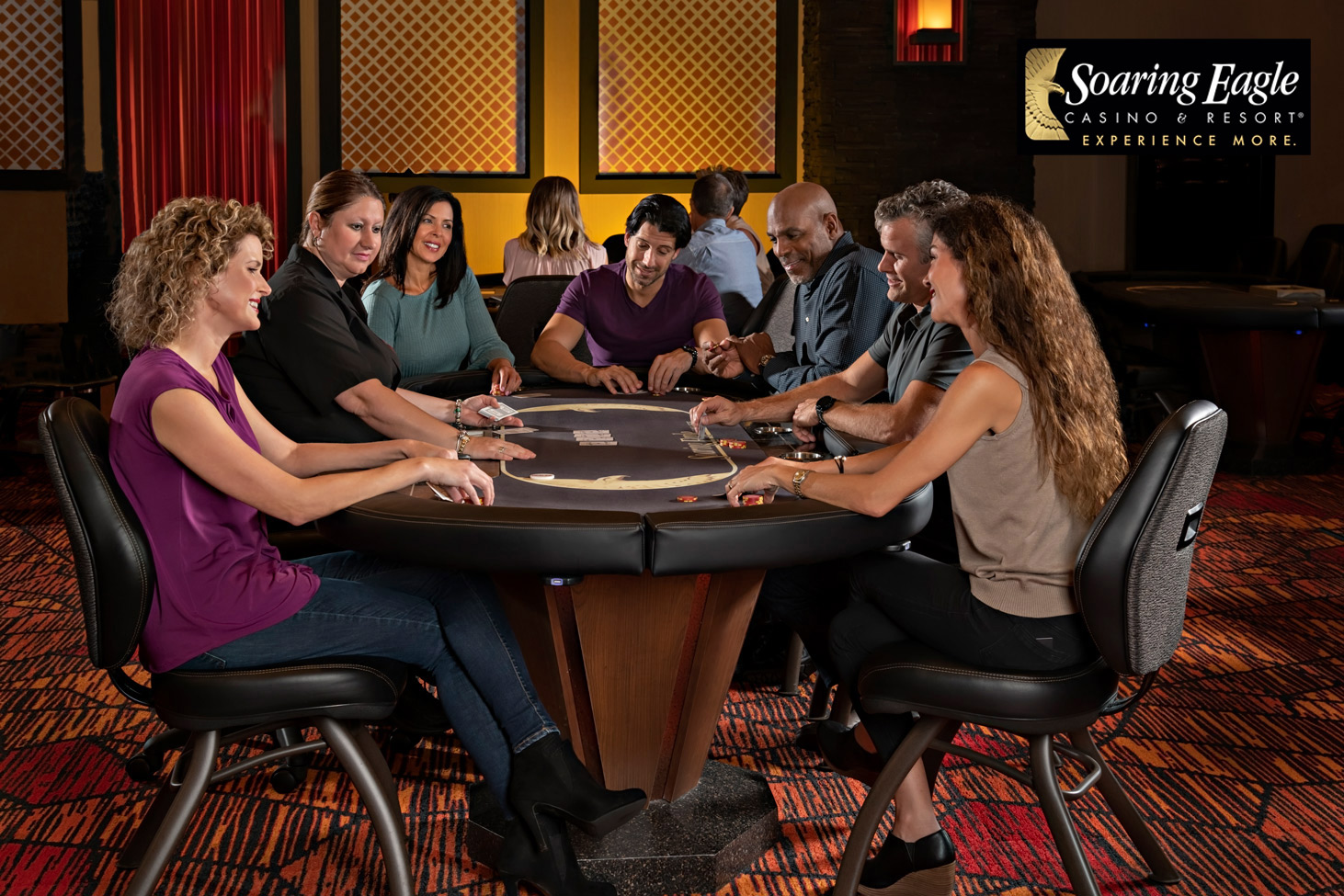 photography of poker players in a casino