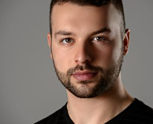 headshot of male actor and model