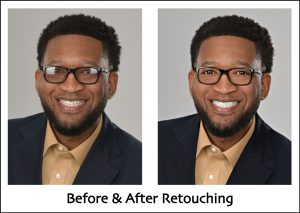 eyeglass glare removal headshot