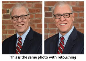 business headshot portraits with retouching