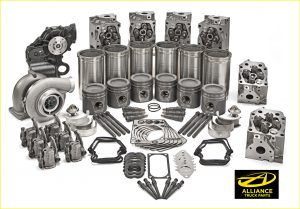 photography of car and truck parts