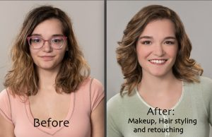 beauty makeover hair and makeup photo session