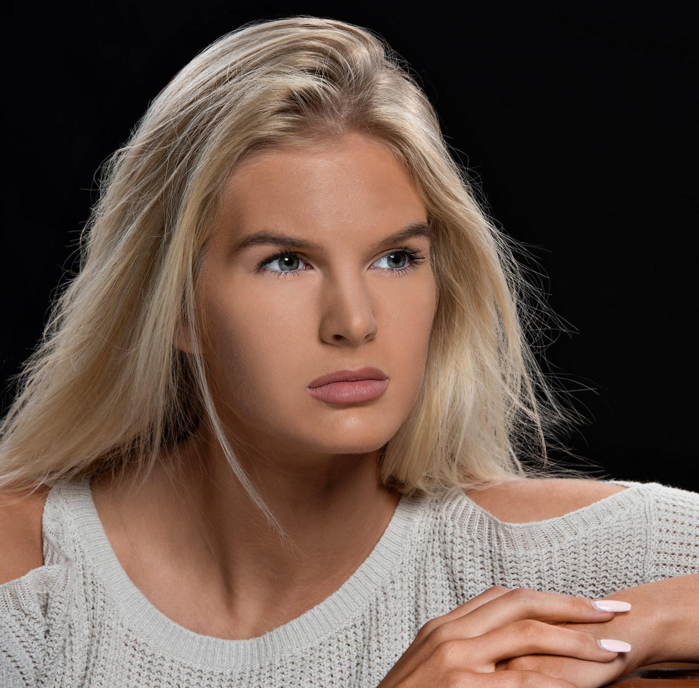 headshot of model for talent agency