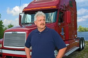 truck driver photography with semi truck