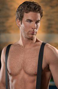 outdoor headshot of model actor in MI